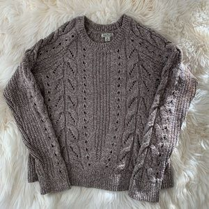Lucky brand cable knit tomorrow crew neck medium